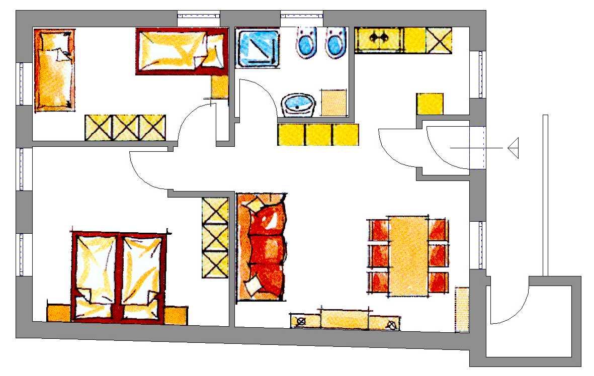Molto piantine di appartamenti is02 pineglen for Foto di case a pianta aperta